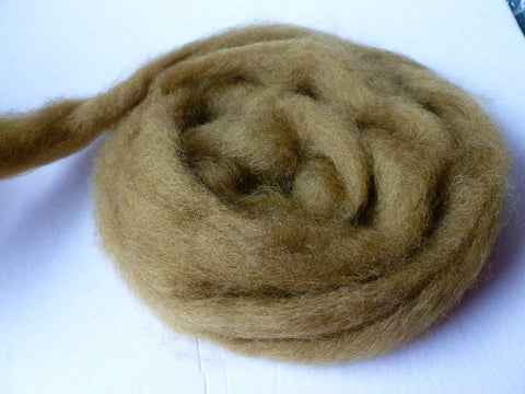 Moss Romney and Merino Blend Wool Roving - Felted for Ewe