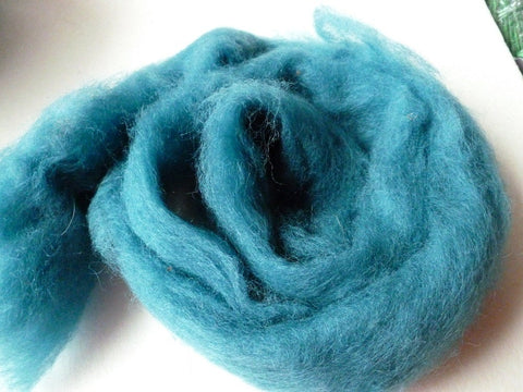 Ocean Blue Romney and Merino Blend Wool Roving - Felted for Ewe