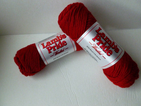 Red Baron Lamb's Pride Worsted  - Seconds -  by Brown Sheep Company - Felted for Ewe
