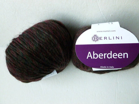 Dark Holly Aberdeen by Berlini,Wool Blend, Worsted 50 gm - Felted for Ewe