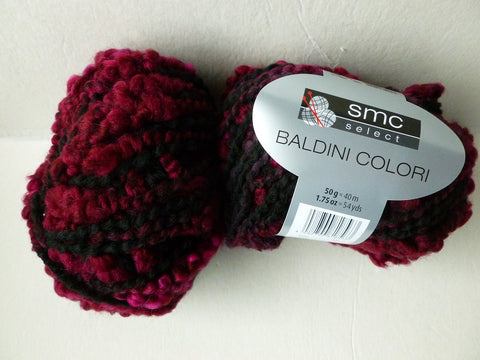 Black and Wine Baldini Colori by SMC Select - Felted for Ewe