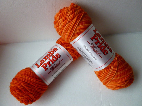 Orange Dreamcicle Lamb's Pride Worsted  - Seconds -by Brown Sheep Company - Felted for Ewe