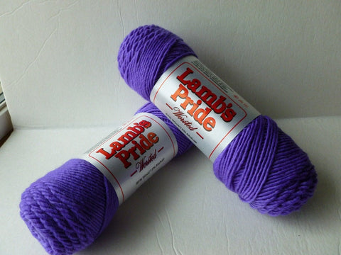 Supreme Purple Lamb's Pride Worsted  - Not Seconds -by Brown Sheep Company - Felted for Ewe