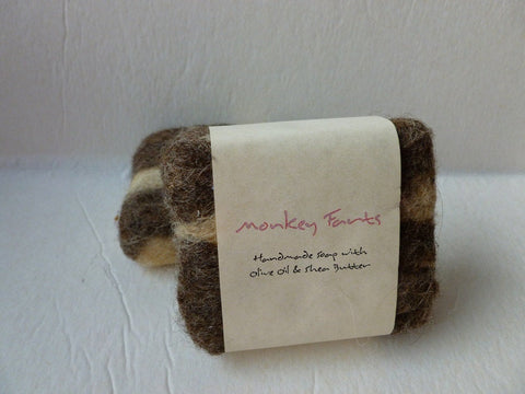 Felted Soap, Handmade Felted Soap - Monkey Farts - Felted for Ewe