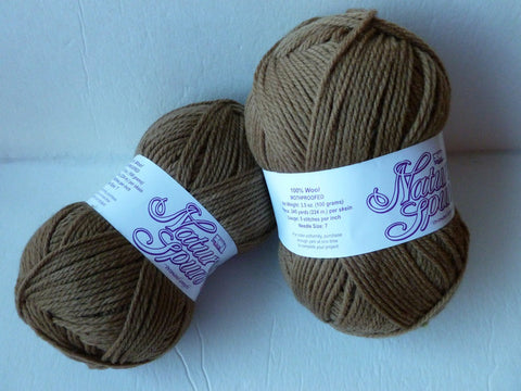 Latte  Nature Spun Worsted - Seconds- by Brown Sheep Company - Felted for Ewe