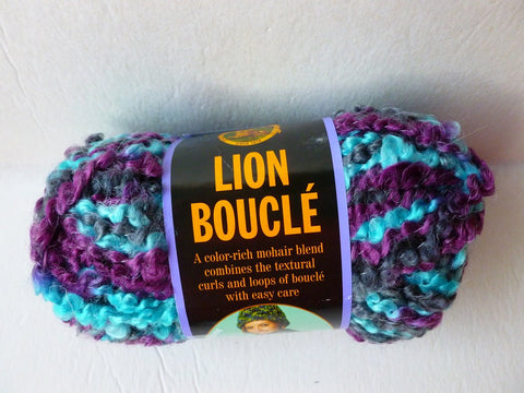 Snow Cone Lion Boucle by Lion brand Yarn - Felted for Ewe