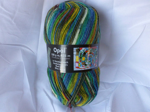 20% off Retail 1433 In Variation nach Hundertwassers Werk  Sock yarn by Opal - Felted for Ewe
