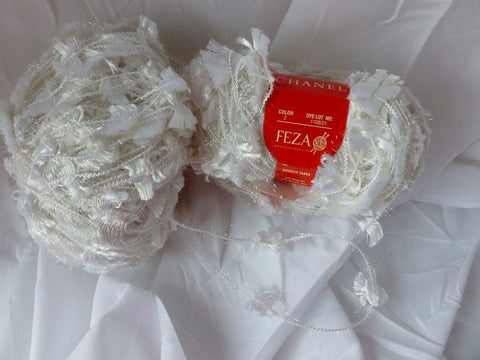 White  2 Channel by Feza, Bulky Ribbon Yarn - Felted for Ewe