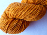 Pumpkin Paternayan Tapestry Wool Dyed by Saco River Dyehouse, Mill End, No Label - Felted for Ewe