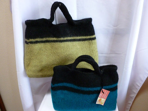 Felted Purse, Large Hand Knit Felted Tote - Felted for Ewe