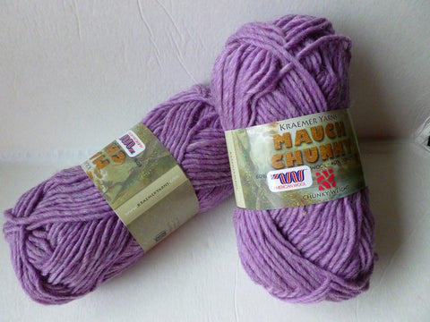20% off Retail Lilac Mauch Chunky by Kraemer Yarns, 100 gm Felting Wool - Felted for Ewe