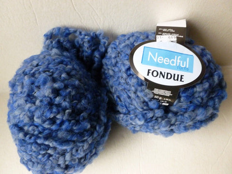 Blues  Fondue by Needful yarns - Felted for Ewe