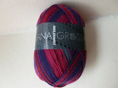 20% off Maroon, Purple and Grey 6707 Meilenweit  Bronx by Lana Grossa Yarns - Felted for Ewe