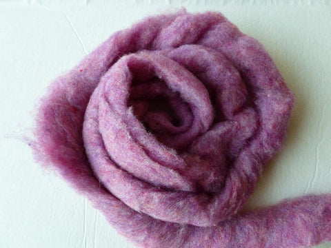 Wool Roving, Raspberry by Bartlett yarns - Felted for Ewe