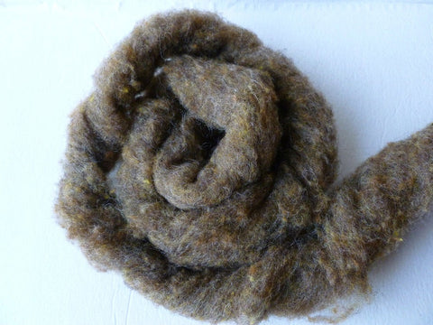 Wool Roving, Bronze by Bartlett yarns - Felted for Ewe