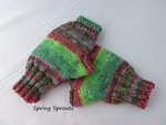 Print Fingerless Mittens, Hand Knit, Superwash Wool, Multiple Colors - Felted for Ewe