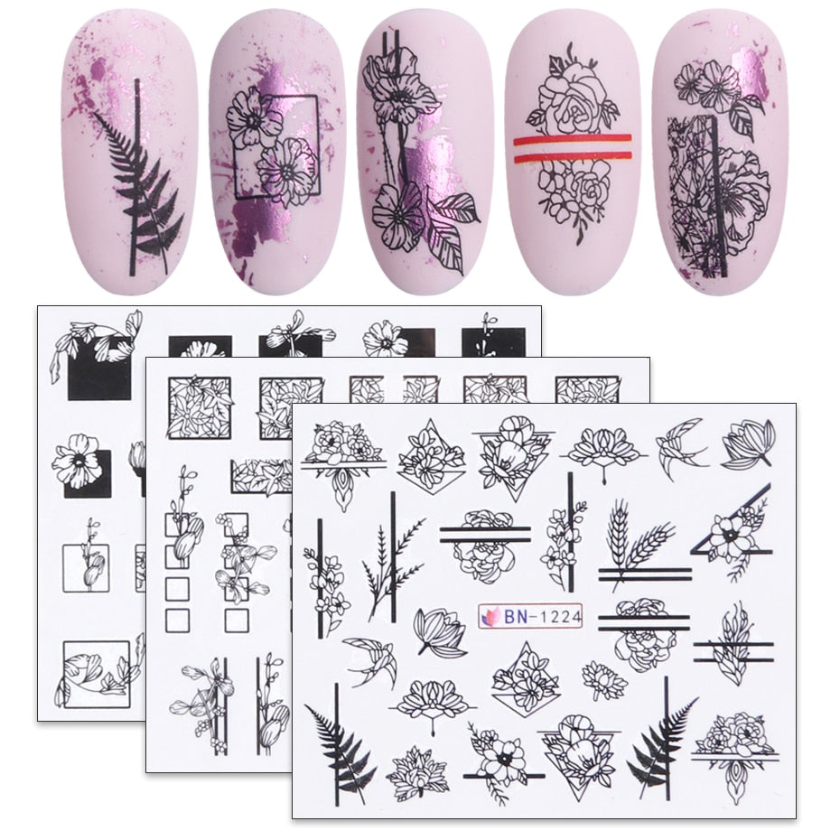 DIY Flower Tattoos For Nails