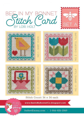 Bee in My Bonnet Stitch Cards - Set A by Lori Holt
