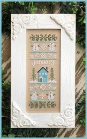 Sampler of the Month - January Sampler by Country Cottage Needleworks