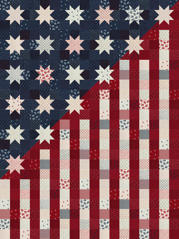 RESERVATION - Our Flag Stands for Freedom Quilt Kit by Primitive Gatherings