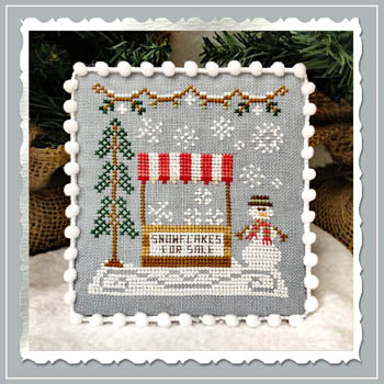 Snow Village 3 - Snowflake Stand by Country Cottage Needleworks
