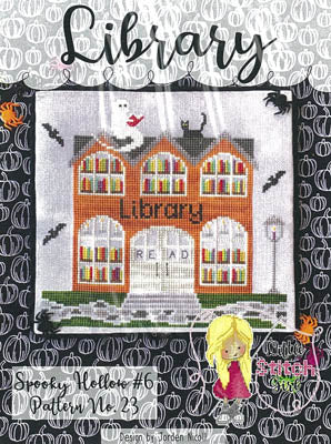 Spooky Hollow 6 - Library by Little Stitch Girl
