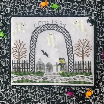 Spooky Hollow 8 - Cemetery by Little Stitch Girl