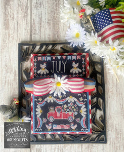 Truckin' Along - July by The Real Housewives of Cross Stitch