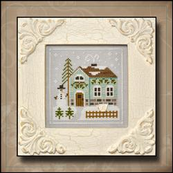 Frosty Forest 3 - Snowman's Cottage by Country Cottage Needleworks