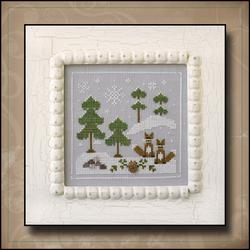 Frosty Forest 6 - Snowy Foxes by Country Cottage Needleworks