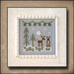 Frosty Forest 8 - Snowy Reindeer by Country Cottage Needleworks