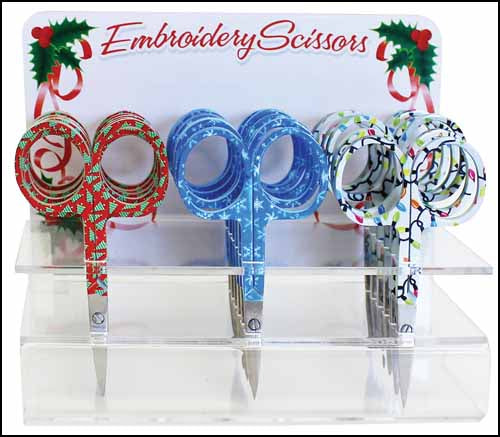 Embroidery Scissors - Holiday by Allary Corp