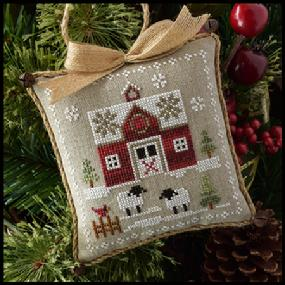 Farmhouse Christmas 1 - Little Red Barn by Little House Needleworks