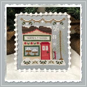 Snow Village 2 - Skate and Sled Shop by Country Cottage Needleworks