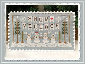 Snow Village 1 - Snow Village Banner by Country Cottage Needleworks