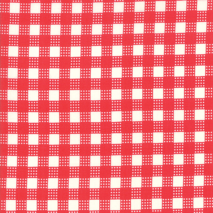 Deer Christmas - Gingham Peppermint