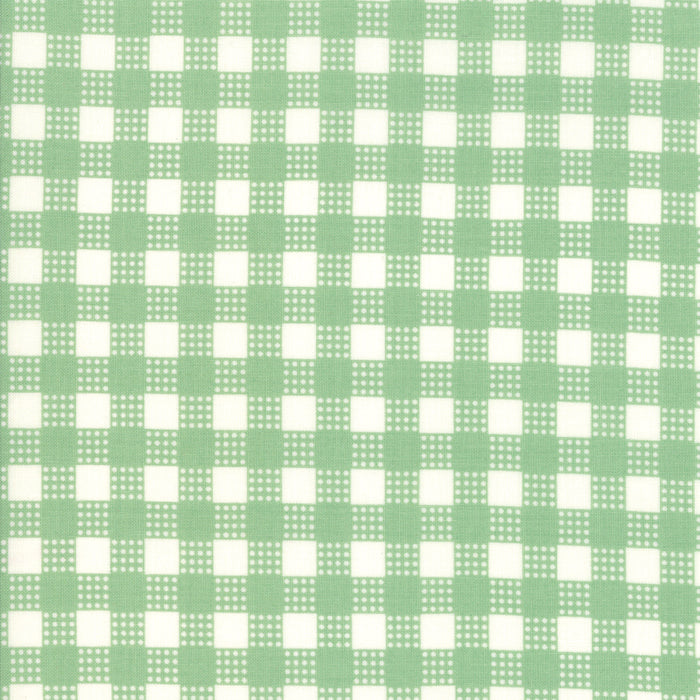 Deer Christmas - Gingham Spearmint