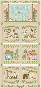 Welcome to the Forest 1 - Forest Banner by Country Cottage Needleworks