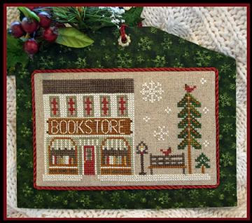 Hometown Holiday Series - The Bookstore by Little House Needleworks