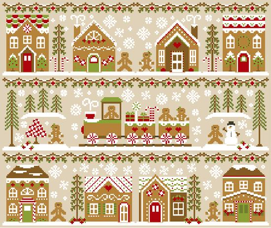 RESERVATION - Gingerbread Village Stitch Along by Country Cottage Needleworks