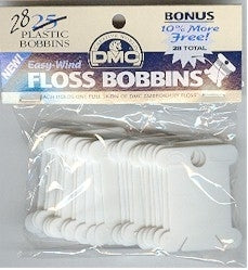 Plastic Floss Bobbins - DMC pkg of 28