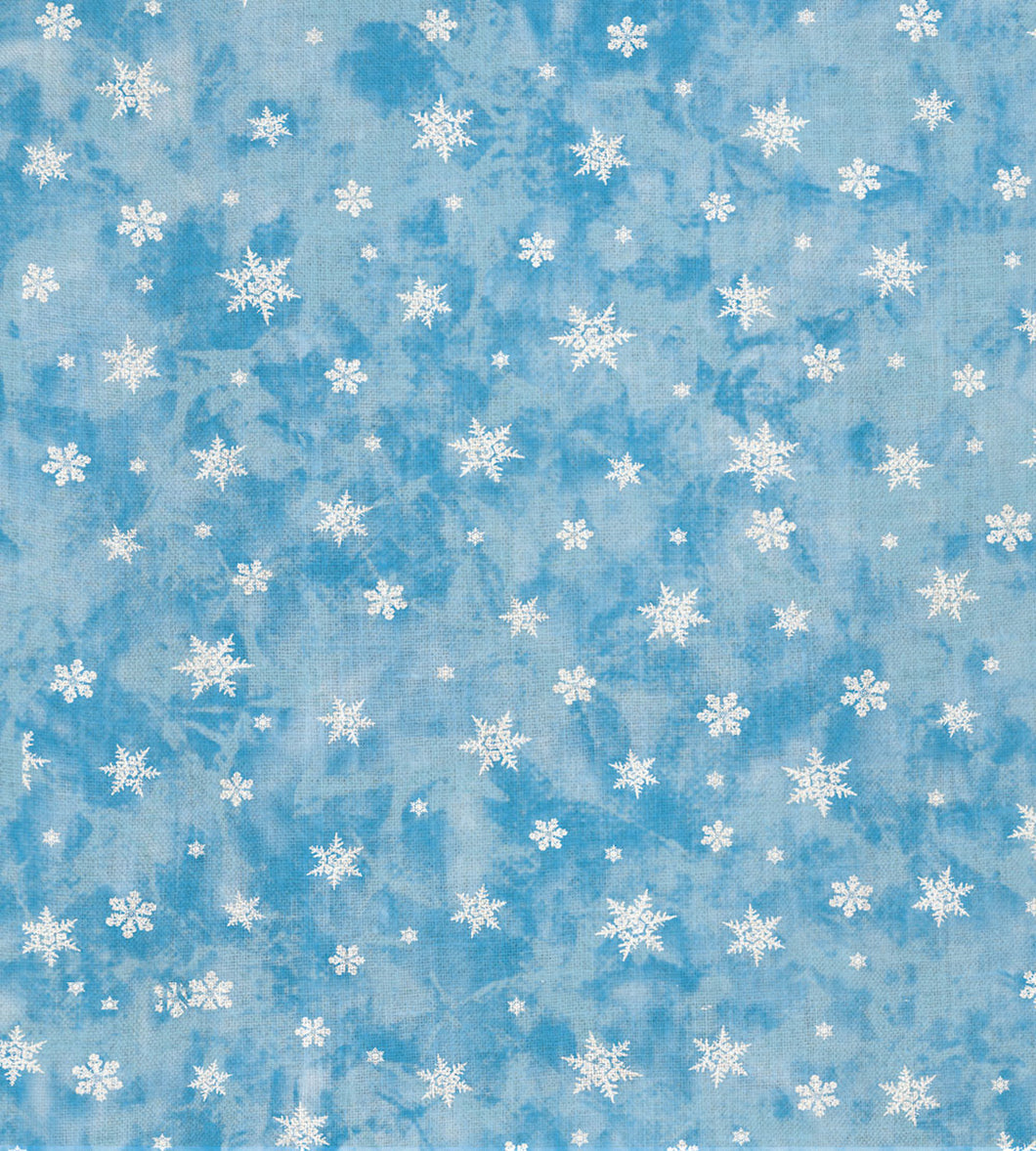 Cross Stitch Cloth - Fabric Flair 16 Count Aida - Blue Classic Snowflake 18 x 20