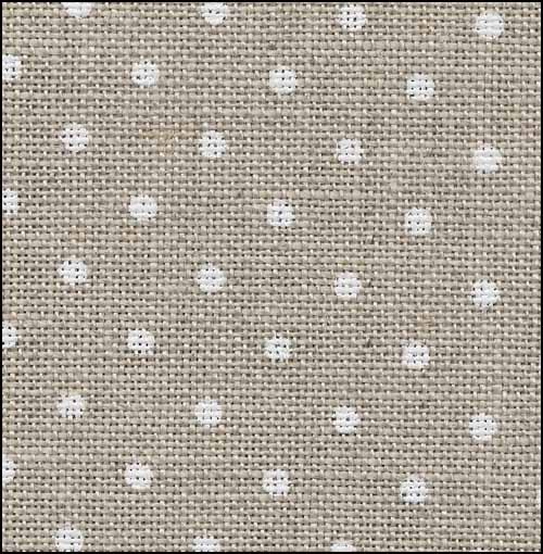 Cross Stitch Cloth - 32 Count Linen - Raw with White Dots by Zweigart