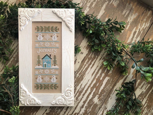 RESERVATION - Sampler of the Month Stitch Along by Country Cottage Needleworks