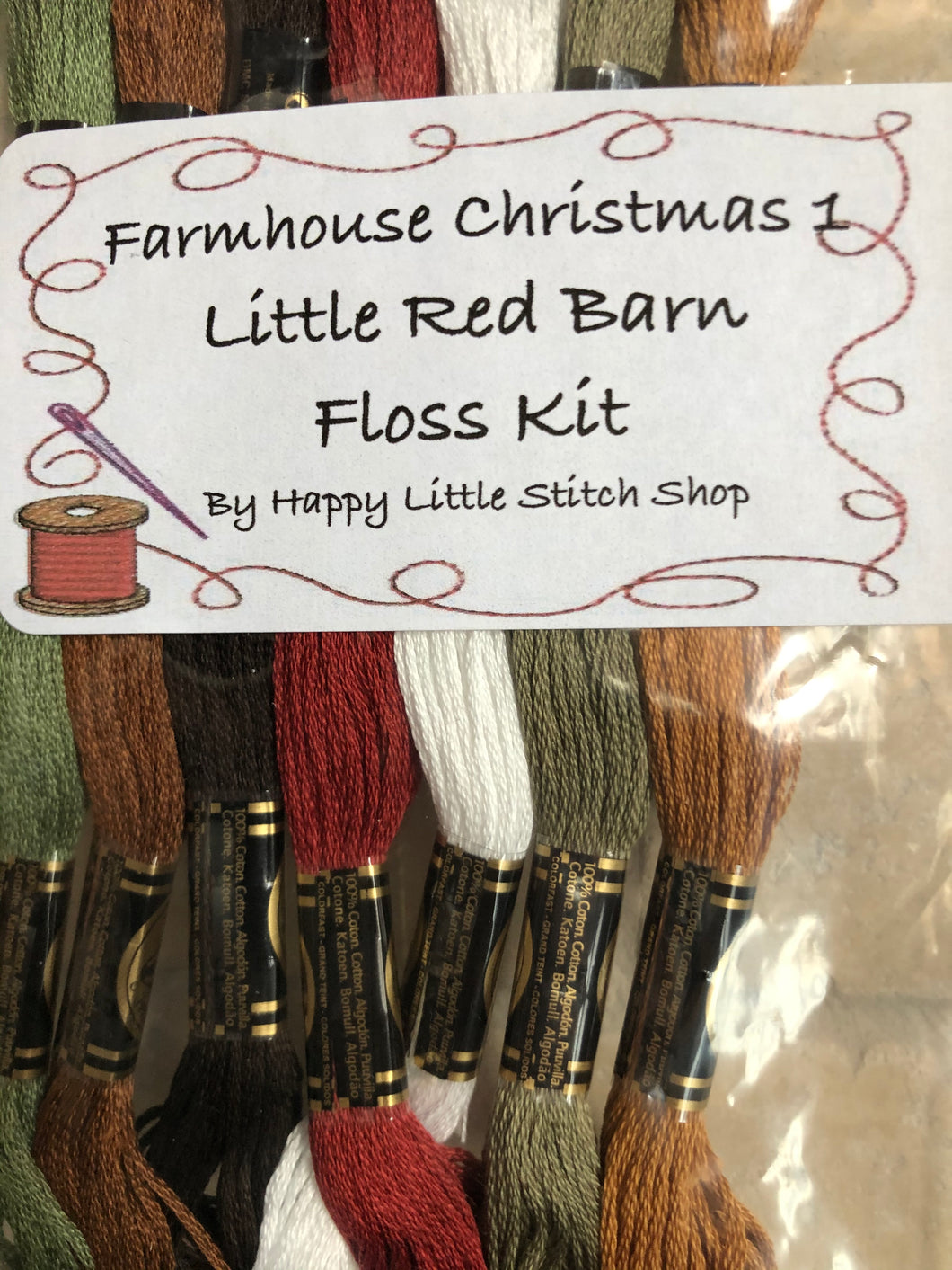 Floss Kit - Farmhouse Christmas 1 - Little Red Barn