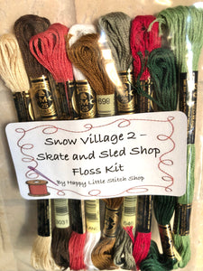 Floss Kit - Snow Village 2 - Skate and Sled Shop