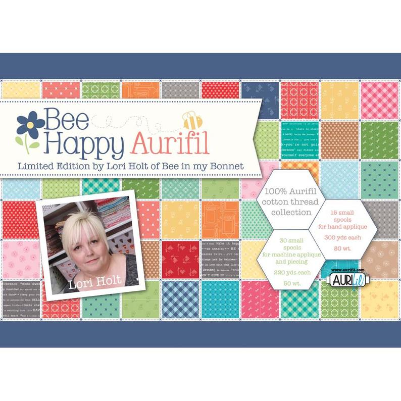 Bee Happy Aurifil Thread Box by Lori Holt