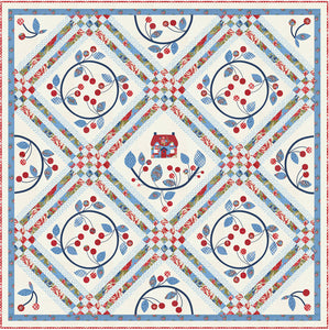RESERVATION - Cherry Wreath Quilt Kit by Minick & Simpson