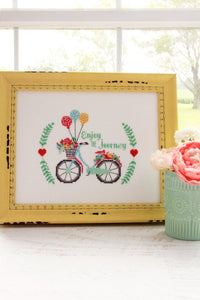 Enjoy the Journey Cross Stitch by Flamingo Toes