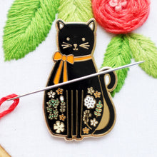 Load image into Gallery viewer, Needle Minder - Black Cat by Flamingo Toes